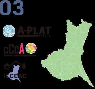 県や市町村に対する適応計画策定支援